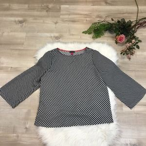 NWOT Vince Cameo Black & White Striped Top Small